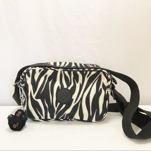 Kipling DEE Zebra Crossbody Bag w/Adjustable Strap